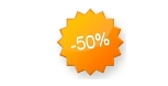 50 procent korting
